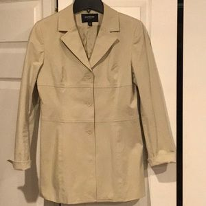 Express stretch khaki blazer jacket